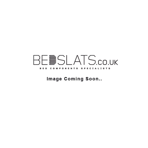 63mm x 8mm Single Row Sprung Bed Slat Kit with Side Holders for Metal Tubular Bed Bases